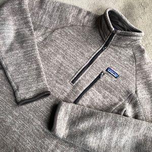 Patagonia Better Sweater Medium Zip Brown Flaw